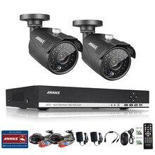 ANNKE HD 4 Канала 1080N 960 P 1.3 мп DVR 2 Открытый CCTV Главная Камеры Системы Безопасности Kit
