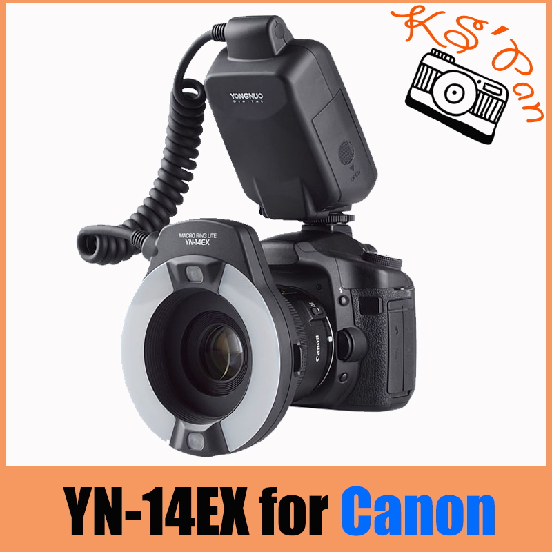Yongnuo YN-14EX TTL Macro Ring Lite Flash Speedlite Light for Canon 5D Mark II 5D Mark III 6D 7D 60D 70D 700D 650D 600D yongnuo yn 14ex ttl macro ring flash light work with adapter for canon 7d 6d 5diii 70d 700d
