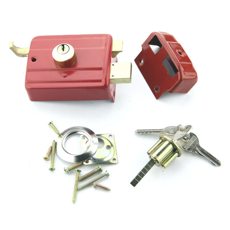 Security Anti-theft Exterior Door Retro Red Locks Multiple Insurance Lock Wooden Door Lock free shipping dry battery rfid electronic door locks security anti theft lock multiple insurance lock with battery box