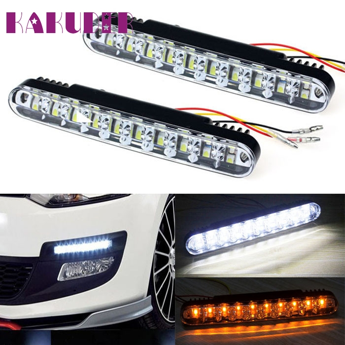 NEW 2x 30 LED Car Daytime Running Light DRL Daylight Lamp with Turn Lights fashion hot L615 автоинструменты new design autocom cdp 2014 2 3in1 led ds150