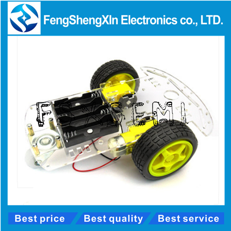 Smart Car Kit 2WD Smart Robot Car Chassis Kits With Speed Encoder And Battery Box For Arduino Diy Kit