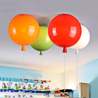 Minimalist Style Colorful Balloon Ceiling Light Children Bedroom Ceiling Lamp Acrylic Creative Dining Room Bedside Ballon