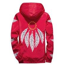 Yizlo Feather Wing Jacket Windbreaker Men Women Jaqueta Masculina Spring Autumn Japan Korea College Jackets