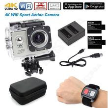 Free shipping! 4K 30fps WiFi Sports Action Camera Cam Remote Charger Battery Case