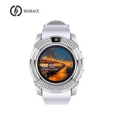 2018 V8 Smartwatch Bluetooth Relógio Inteligente com Tela Sensível Ao Toque Câmera Pedômetro à prova d' água reloj inteligente para IOS Android pk V9
