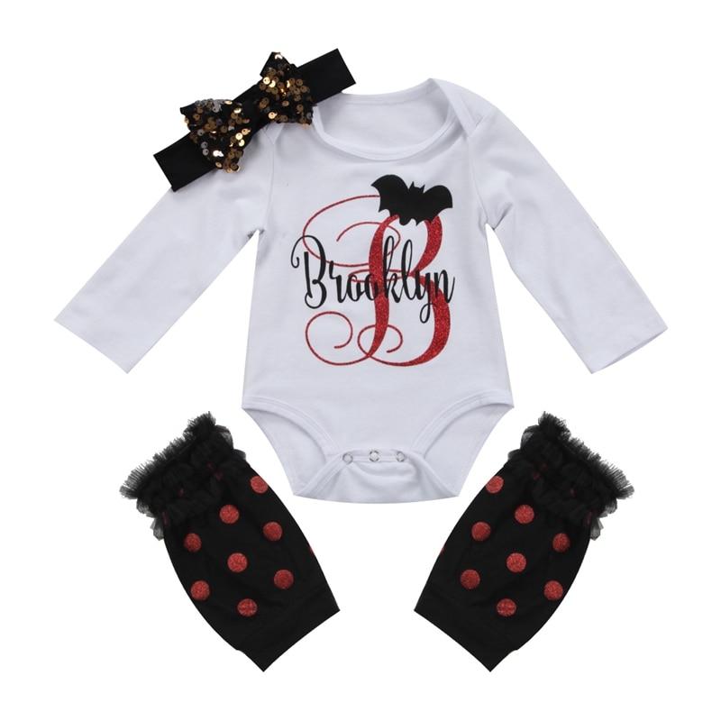 Halloween Newborn Baby Girl Headband Outfit Set Clothes