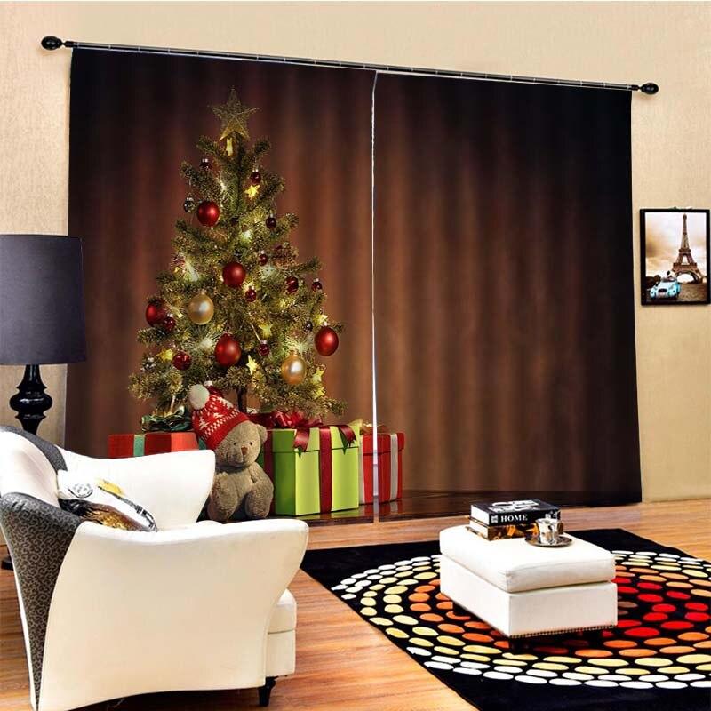 Awning Cloth Santa Claus Gift 3d Digital Printed Curtains Ebay