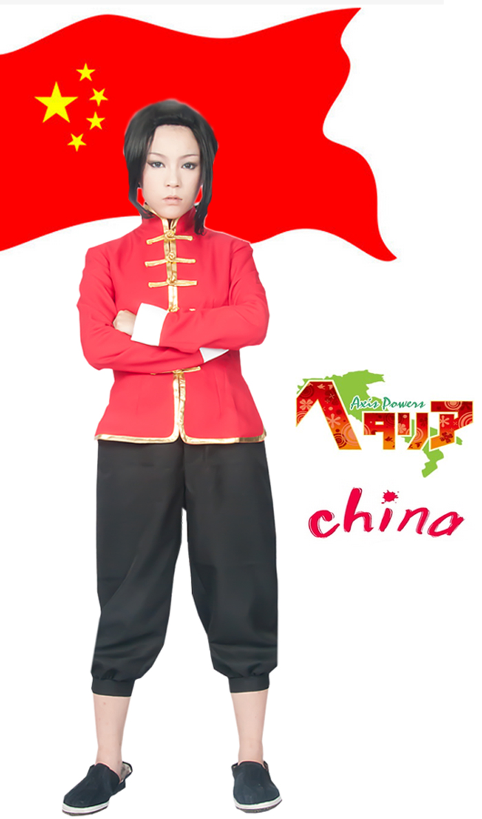 Free Shipping Axis Powers Hetalia China Wang Yao Tang Suit Anime Cosplay Costume