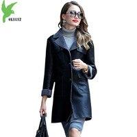 Wysokiej Jakości Kobiety Płaszcze Zimowe Faux dwulicowy Fur Jacket Stadami Czarna Wełna Futro Kurtka Plus rozmiar odzieży Skórzanej Kurtki OKXGNZ1122