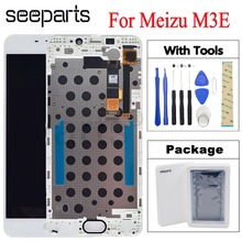 """5.5 """"dla MEIZU M3E wyświetlacz LCD ekran dotykowy Digitizer zgromadzenie Meilan E dla Meizu M3E wymiana LCD części + narzędzia czarny/biały"""