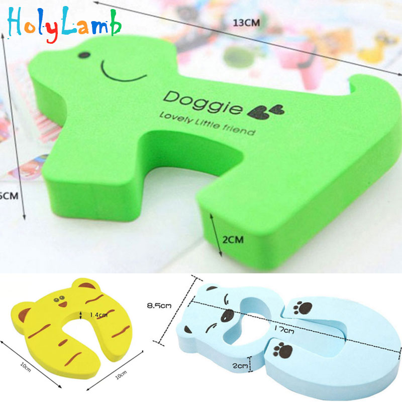 Купить с кэшбэком Child Safety Protection Baby Safety Cute Animal Security Card Door Stopper Baby Newborn Care Child Lock Protection From Children