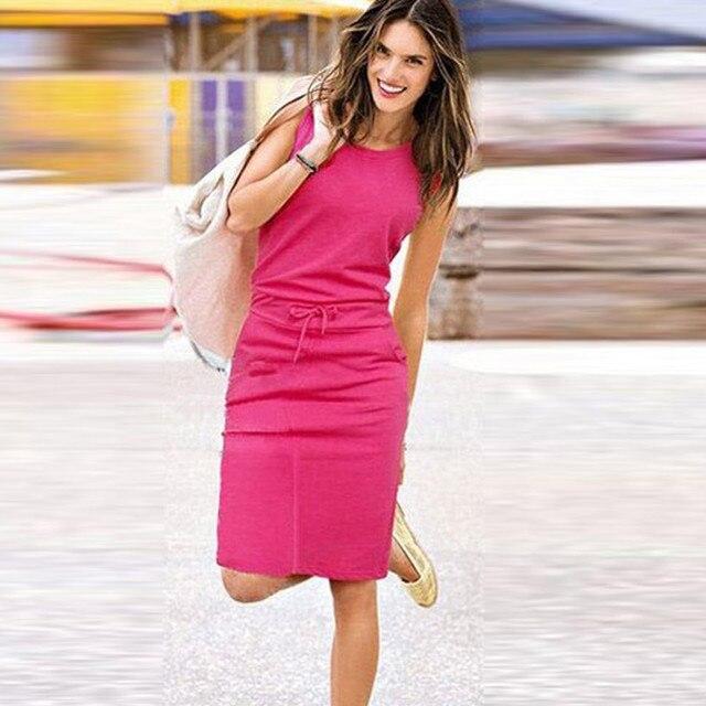 da88a20c54e9c JAYCOSIN Summer Mini Dress Women Holiday Office Lady Sexy Sleeveless  Sundress Ladies Beach Casual Party Dresses Evening PJ0730