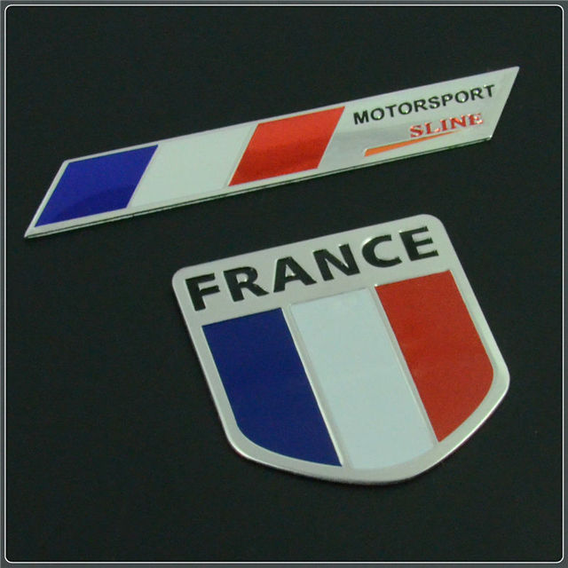 France map national flag 3d car sticker s line aluminum car styling for citroen peugeot renault