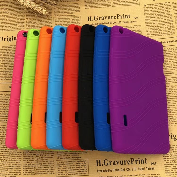 For Huawei MediaPad T3 70 BG2-W09 kids Case Shockproof Soft TPU Silicone Colorful Soft cover For Huawei T3 7+stylus pen