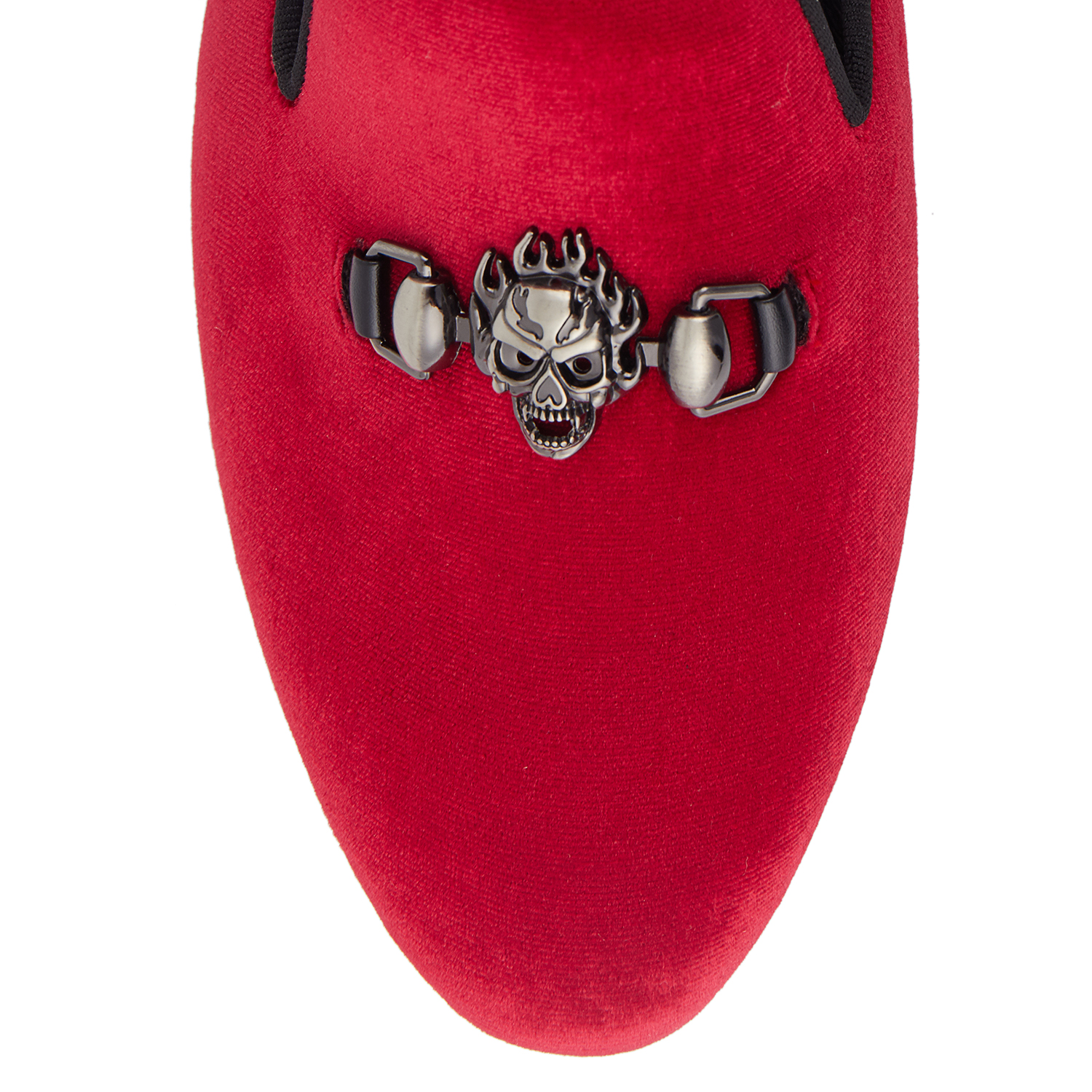 Appartements Hommes rouge Rouge Harpelunde Mocassins 6 Taille Chaussures Velours 14 Boucle Noir Crâne 7Ban0nwxqd