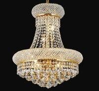 Phube освещение французская Империя Золотая хрустальная люстра Хром Люстры Освещение Современные Люстры свет + бесплатная доставка!