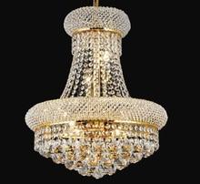 Phube освещение французский ампир Золотой хрустальный канделябр хромированные люстры освещение Современные люстры свет + бесплатная доставка!