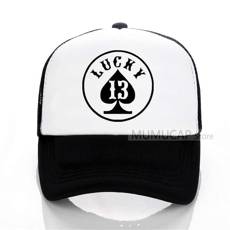 86795a2e996 lucky number 13 summer women men fashion Baseball caps outdoor trucker cap  women Mesh cap