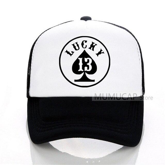 83d6dfd78493d4 lucky number 13 summer women men fashion Baseball caps outdoor trucker cap  women Mesh cap