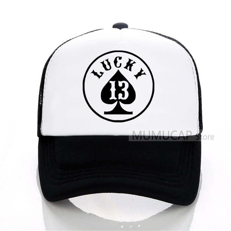 lucky number 13 summer women men fashion   Baseball     caps   outdoor trucker   cap   women Mesh   cap