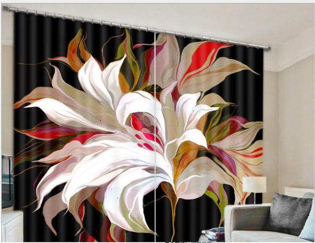 Mandara fleurs blackout fenêtre rideaux de luxe d rideaux
