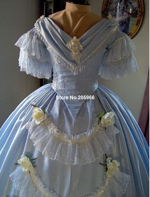 Custom Made 1800s Victorian Dance Dress 1860s Civil War