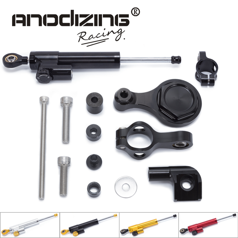 FREE SHIPPING For YAMAHA YZF R1 R6 2006-2015 Motorcycle Steering Damper Stabilizerlinear Reversed Safety Control with Bracket gt motor motorcycle cnc steering damper stabilizerlinear reversed safety control with bracket for yamaha mt09 mt 09 fz 09 13 17