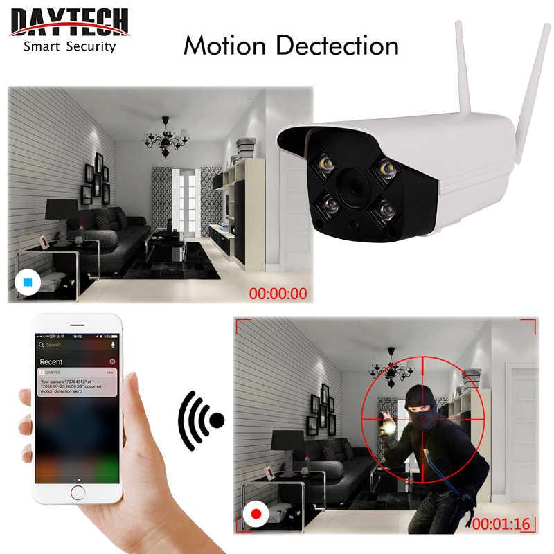 DAYTECH, водонепроницаемая уличная ip-камера, беспроводная, HD720/1080 P, ночного видения, монитор безопасности, обнаружение движения, Белый светодиодный свет H05