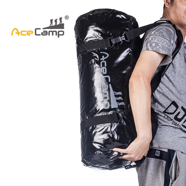 9dacb6937c7f US $59.95 |AceCamp 40L Outdoor Camping Lazy Sports Bag Beach Waterproof  Drift Dry Bag Duffel With Shoulder Strap High Capacity-in River Trekking  Bags ...