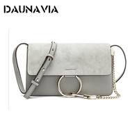 SWDF Women Messenger Bags Genuine Leather Trends Women Bags Chains Shoulder Package Ring Envelopes Famous Designer