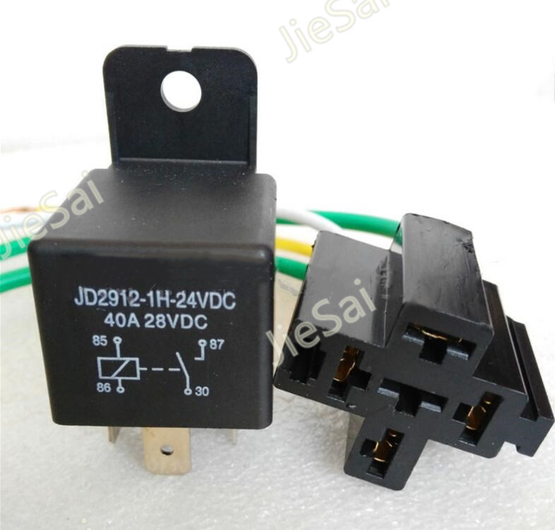 normally open 4 pin 24v 40a auto relay automotive relay. Black Bedroom Furniture Sets. Home Design Ideas