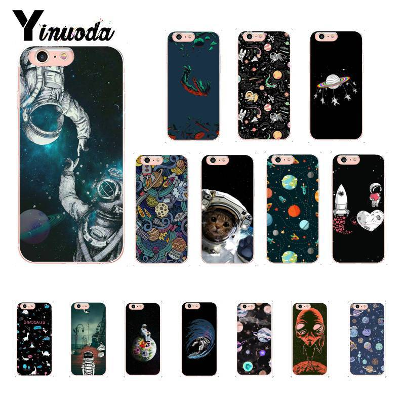 Cellphones & Telecommunications Yinuoda Newest Space Moon Astronaut Newly Arrived Phone Case For Iphone 6s 6plus 7 7plus 8 8plus X Xs Max 5 5s Xr 10 Cases Skilful Manufacture Phone Bags & Cases