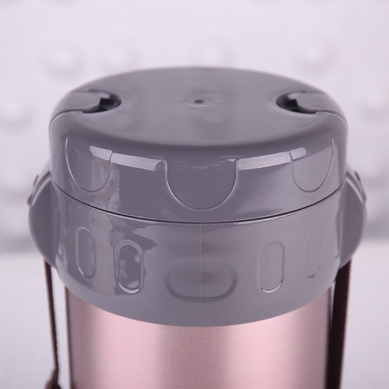 2Л термо Ланч бокс из нержавеющей стали, высокое качество, изолированная сумка холодильник для обеда, вакуумный контейнер для еды, Ланчбокс - 4