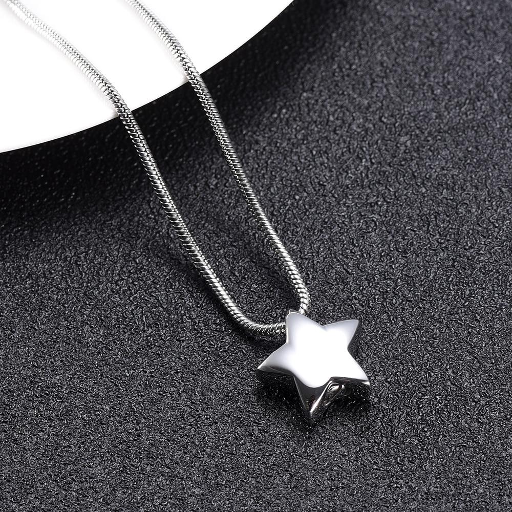 XWJ9993 маленькие подвески в форме звезды для золы, ожерелье для домашних животных/человеческих урн для кремации, похоронная урна из нержавеющ...