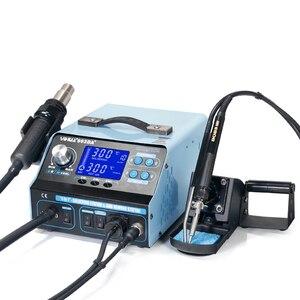 Image 2 - YIHUA 992DA + 4 ב 1 LCD הדיגיטלי אוויר חם אקדח הלחמה תחנה + ואקום עט + עישון חשמלי הלחמה ברזל BGA עיבוד חוזר תחנה