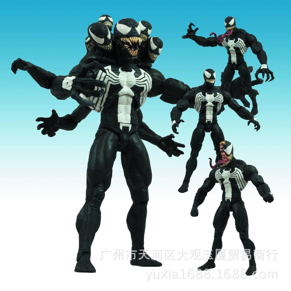 17cm Avengers SpiderMan venom Anime Action Figure PVC toys Collection figures Collection for kids gifts 11cm mewtwo cartoon anime pocket action figure pvc toys collection figures for friends gifts