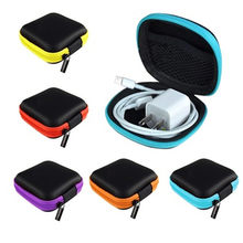 Portable Mini Jewellery Packing Box Zipper Headphones Box In-ear Earphone Cases EVA Square Earbuds Headset Carry Pouch Bags 1Pcs(China)