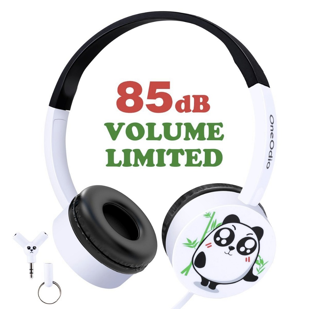 Onedio nueva llegada los niños Cute Cartoon Panda diadema ligero Durable Fone De Ouvido 3,5mm Wired Headset auriculares