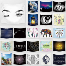 Unicorn beauty eyes tapestry hd wall hanging home decoration large rectangle bedroom