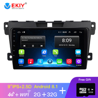 EKIY 9'' IPS Car Radio Android 8.1 Car Multimedia Video Player Navigation GPS For Mazda Cx 7 Cx7 Cx 7 2008 2015 2 Din Stereo