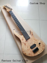 Custom Shop,7 strings electric Guitar customization.special wainscot.elm body.Ebony fingerboard. OEM company LP Guitar St Guitar