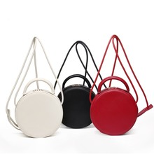 цена на Genuine Leather Round Bags Women Round Handbags Fashion Circular Female Shoulder Bags Small Party Bag Small Circle Crossbody Bag