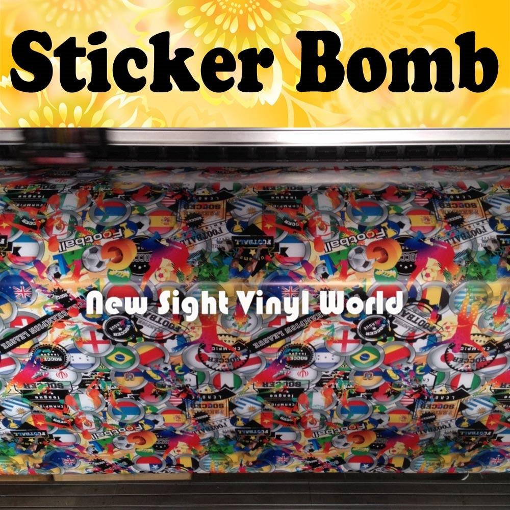 Tim nasional sepak bola stiker bom bungkus tim sepak bola stiker bom vinyl film gelembung gratis ukuran 1 5030 m roll di mobil stiker dari mobil sepeda