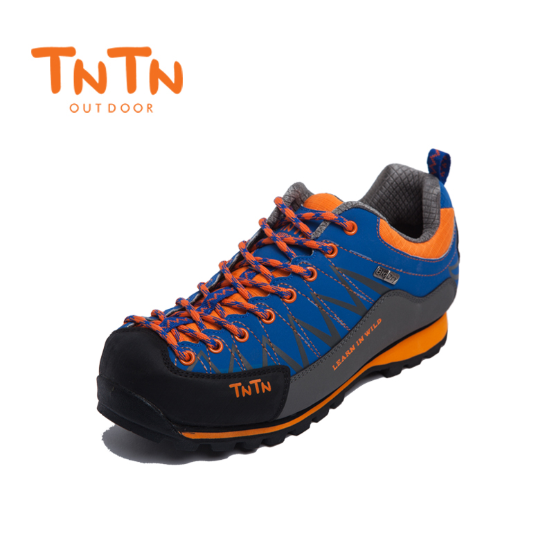 Hiking Shoes Waterproof Cowleather Trekking Climbing Trail Athletic Sports Mountain 100% High Quality Leisure Walking Mens