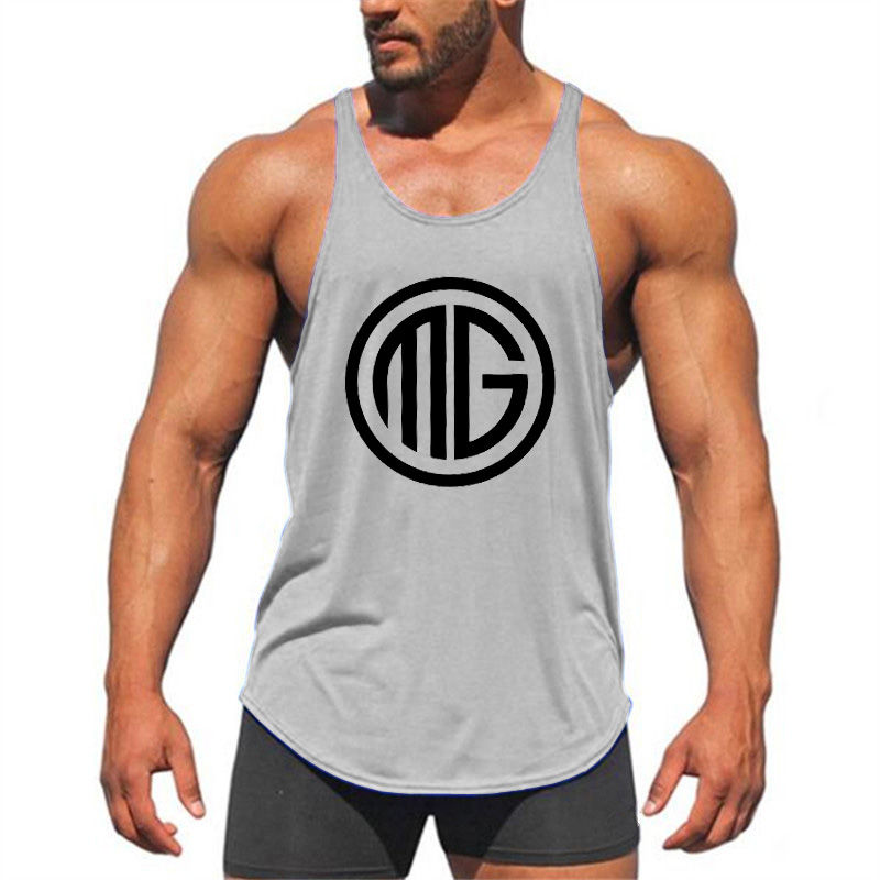Brand Clothing Fitness   Tank     Top   Men Bodybuilding Stringer Men Shirt Crossfit Vests Cotton Sportwear Singlets Muscle   Tops