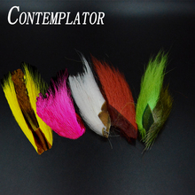 CONTEMPLATOR 5colors bucktail jig fly fishing streamers tying material dyed deer hair for deceivers classical fly tying feathers