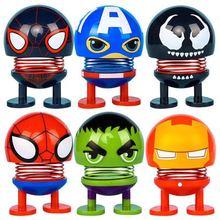 6 sets Marvel Avengers Endgame Thanos Spiderman Hulk Iron Man Captain America Thor Wolverine Action Figure Toys Dolls for Kid new avengers superhero iron man thor spider man captain america batman hulk wolverine with led light action figure s252