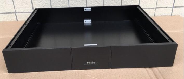 Version QM NAIM style plein aluminium préampli châssis/amplificateur de puissance boîtier 430*70*310mm