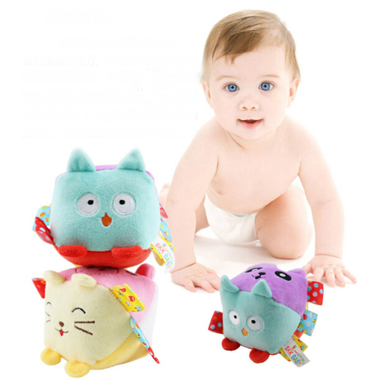 New Hot Soft Cube Rattle Mobiles Baby Toy Color Number Recognize Kids Early Learning Educational Crib Toy For Children Bell Ring