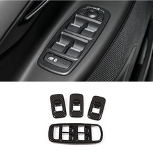 ABS Car Window Glass Lifting Buttons Frame Cover Trim 4pcs For Jaguar XE X760 2015-16 Auto Door Armrest Decoration Panel